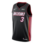 Miami Heat - Dwyane Wade Nike Black Logo Patch NBA Swingman Jersey Icon Edition on eBay