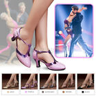 Kyпить US Women Latin Salsa Square Dance Dress Shoes Mid Heels Party Ballroom  / * на еВаy.соm