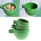 Mini Parrot Food Water Bowl Feeder Plastic Bird Pigeons Cage Sand Cup Feeding JE