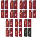 LIVERPOOL FC 2019/20 PLAYERS HOME KIT GROUP 1 PU LEATHER BOOK CASE APPLE iPHONE