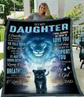 Lion Dad To My Daughter I'll Always Be There To Love You Sherpa Blanket