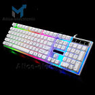 Rainbow Gaming Keyboard and Mouse Set Backlight Ergonomic USB For PC B2AE