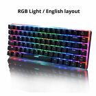 AK33 82 keys mechanical keyboard Russian / English layout gaming keyboard RGB