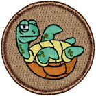 "Awkward Turtle Patrol Patch - 2"" Round Embroidered Patch"