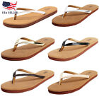 New Women's Lightweight Comfort Flat Footbed Slide Summer Thong Flip Flop Sandal
