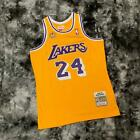 Los Angeles Lakers #24 Kobe Bryant Yellow Throwback Jersey Same Day Shipping on Ebay