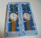 Women's/Girl's Key style keychain Clip On Gold and Silver finish fashion watch image