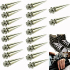 Lot 10-100 26mm Spot Cone Screw Metal Studs Leathercraft Rivet Bullet Spikes DIY