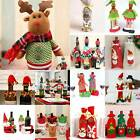 Merry Christmas Santa Wine Bottle Bag Cover Xmas Dinner Party Table Decoration