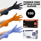 Rubber Gloves Powder Free Nitrile 1 Pack 100 Count Strong Medical Exam Precision