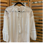 NWT White Blouse with Lace detail