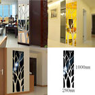 Modern Mirror Style Removable Decal Art Mural Wall Stickers Home Room Decor Diy