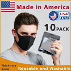10-PACK Black Face Fashion Mask Washable Reusable Unisex Adult MASK Made  IN USA