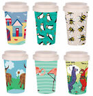 Eco Chic Environmentally Friendly Reusable Bamboo Coffee Cup / Mug. 24 Designs