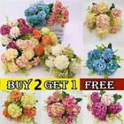10 Heads Artificial Silk Hydrange Flowers Bride Wedding Bouquet Home Party Decor