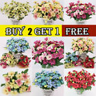 13 Heads Artificial Silk Fake Flowers Bouquet  Bride Wedding Home Party Decor