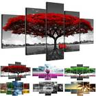 5PCS Modern Wall Art Tree Flower Large Big Canvas Painting Picture Abstract