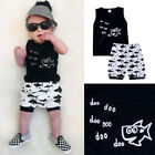 Toddler Kids Baby Boy Clothes Boys Outfits Sets Short T-Shirt + Pants Shark Tops