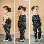 Toddler Kids Baby Girl Sleeveless Flower Romper Jumpsuit Bodysuit Pants Clothes