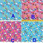 Kyпить Hello Kitty Celebration Confetti Brid Star Balloon Pink/Blue Cotton Fabric BTHY на еВаy.соm