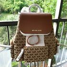 Michael Kors Women Lady Girls Large Jacquard Leather Backpack Travel Shoulder Mk