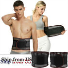 Men & Women Waist Trainer Body Shaper Tummy Control Belt Belly Girdle Cincher US