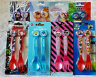 Girls Boys Character Fork & Spoon Cutlery Set  Baby Shark / LOL + More New