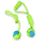 Playful Pet Supply Dog Chew Toys Teeth Cleaning Outdoor Training Fun Rope Ball