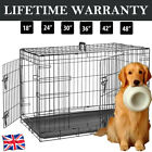 Dog Cage Pet Puppy Crate Carrier Home Folding Door Training Kennel S M L XL XXL√