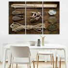 Vintage Marine Accessories 3 PCs Canvas Printing Wall Picture Poster Home Decor