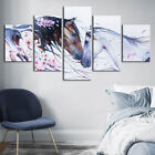 Abstract Horse Couple Art 5 PCs Canvas Printed Wall Poster Picture Home Decor
