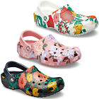 Crocs Classic Printed Floral Clogs Womens Lightweight Holiday Beach Sandals