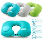 Inflatable Air Pump Travel Neck Pillow Comfortable U-Shape Airplane Support Cush