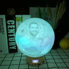 Personalized Photo Lamp Bluetooth Speaker Moon Night Light Love Gift For Women