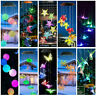Solar LED Garden Christmas Light Wind Chimes Outdoor Color Changing Xmas Hanging