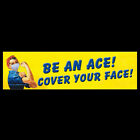 Be an Ace Cover Your Face Rosie the Riveter STICKER or FLEXIBLE MAGNET mask