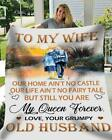 Grumpy Old Husband To My Wife You Are My Queen Forever Sherpa Blanket