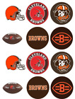 Cleveland Browns Edible Image Toppers. Edible Round Pre Cut Stickers. $8.95 USD on eBay