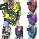 Womens Camouflage T Shirts V Neck Short Sleeve Loose Camo Summer Casual Tops