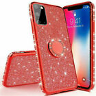 For Samsung Galaxy S20 Ultra S10 S9 S8 Plus Bling Glitter Ring Holder Case Cover