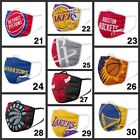 NBA Basketball Teams Adults Face Mask Washable Reusable plus one filter Pm 2.5