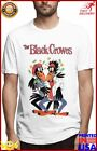 Smooffly Mens The Black Crowes Crewneck Cotton Short Sleeve Shirts