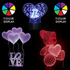 LED Light Gift For Her Girlfriend Wife Woman Mom Love Teddy Bear Decor Birthday