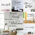 Removable Vinyl Home Room Decor Art Quote Wall Decal Stickers Bedroom Mural Uk