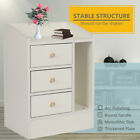 Bedside Table Cabinet White Nightstand Side Lamp Table Bedroom Chest of Drawer
