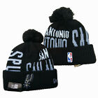New Embroidered All Teams Logo Basketball Beanie Hat Knitted Warm Pom Cap US