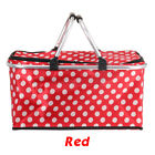 Large 2 Person Insulated Picnic Basket Wicker Basket Camping Outdoor Willow Bag