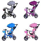 'Smart Baby Kids Ride On Trike Tricycle 4 In 1 Bike 3 Wheels Canopy