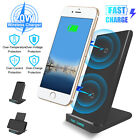 20W QI Wireless Fast Charging Charger Stand Phone Holder Pad For iPhone Samsung