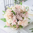 13 Heads Real Touch Artificial Silk Flowers Bridal Wedding Bouquet Home Decor SD